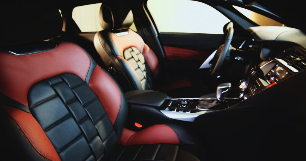interior and seats of car