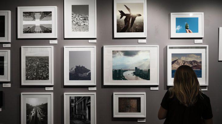multiple photos on wall